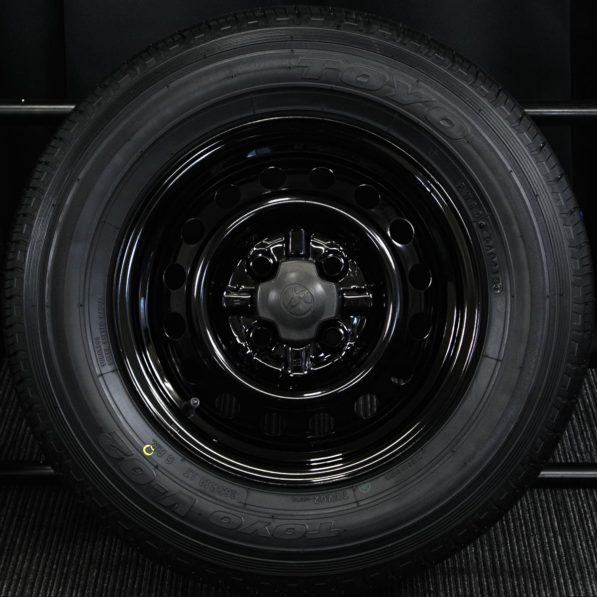 TOYOTA サクシードバン・プロボックスバン 純正 ブラック TOYO V-02 165R13LT 6PR 4本SET