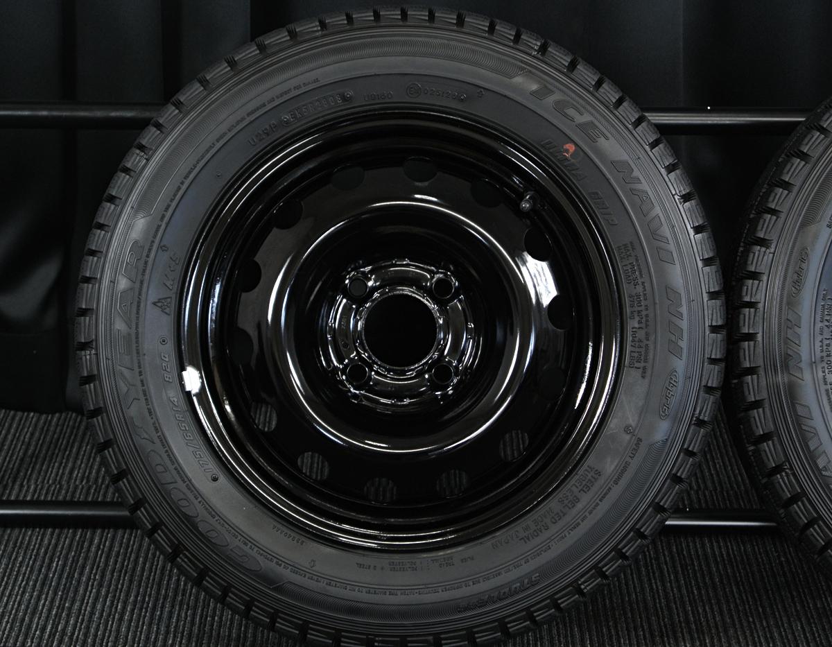 PEUGEOT 206 純正 ブラックスチール GOODYEAR ICENAVI NH 175/65R14 4本SET