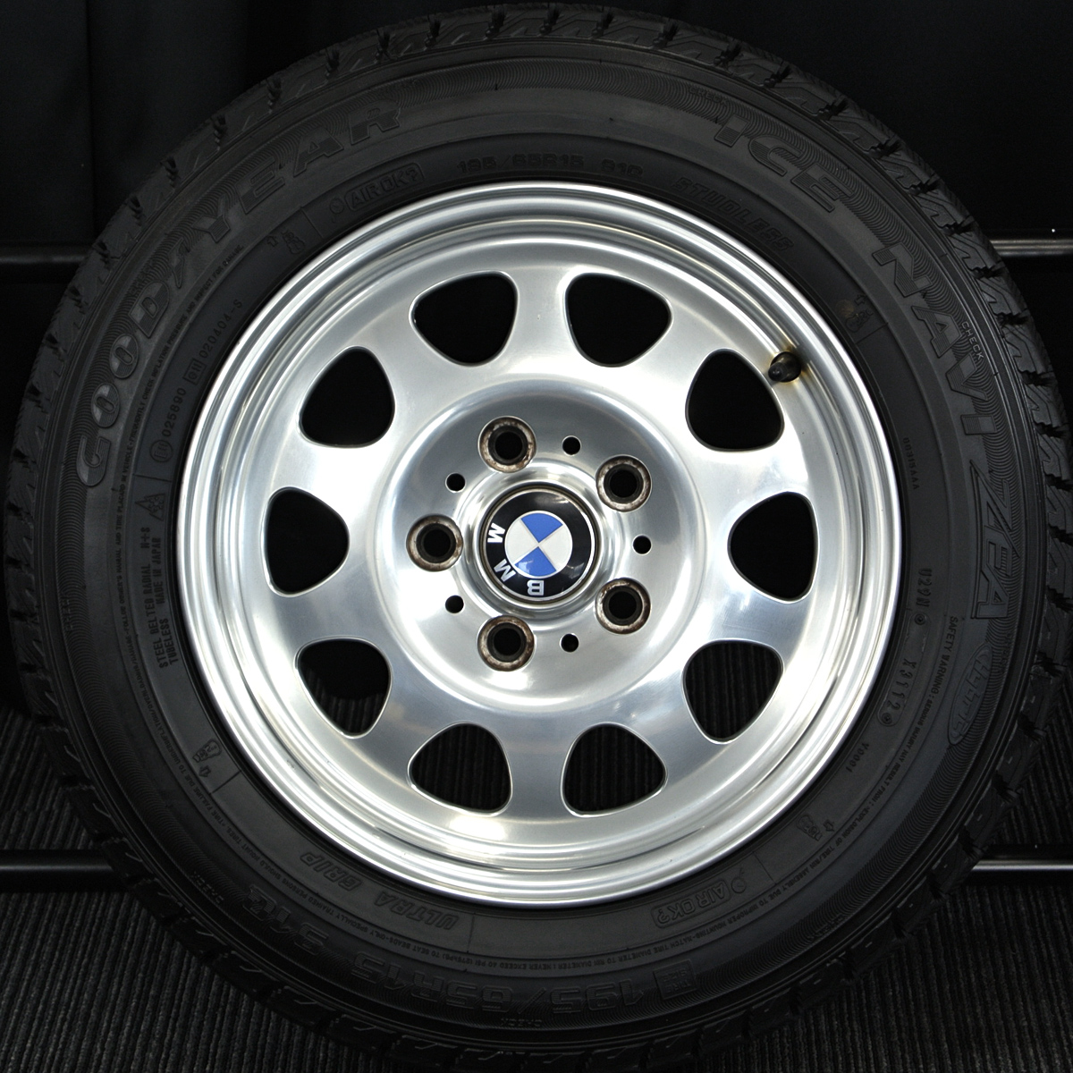 BMW 3シリーズ 純正 ポリッシュ GOODYEAR ICENAVI ZEA 195/65R15 4本SET