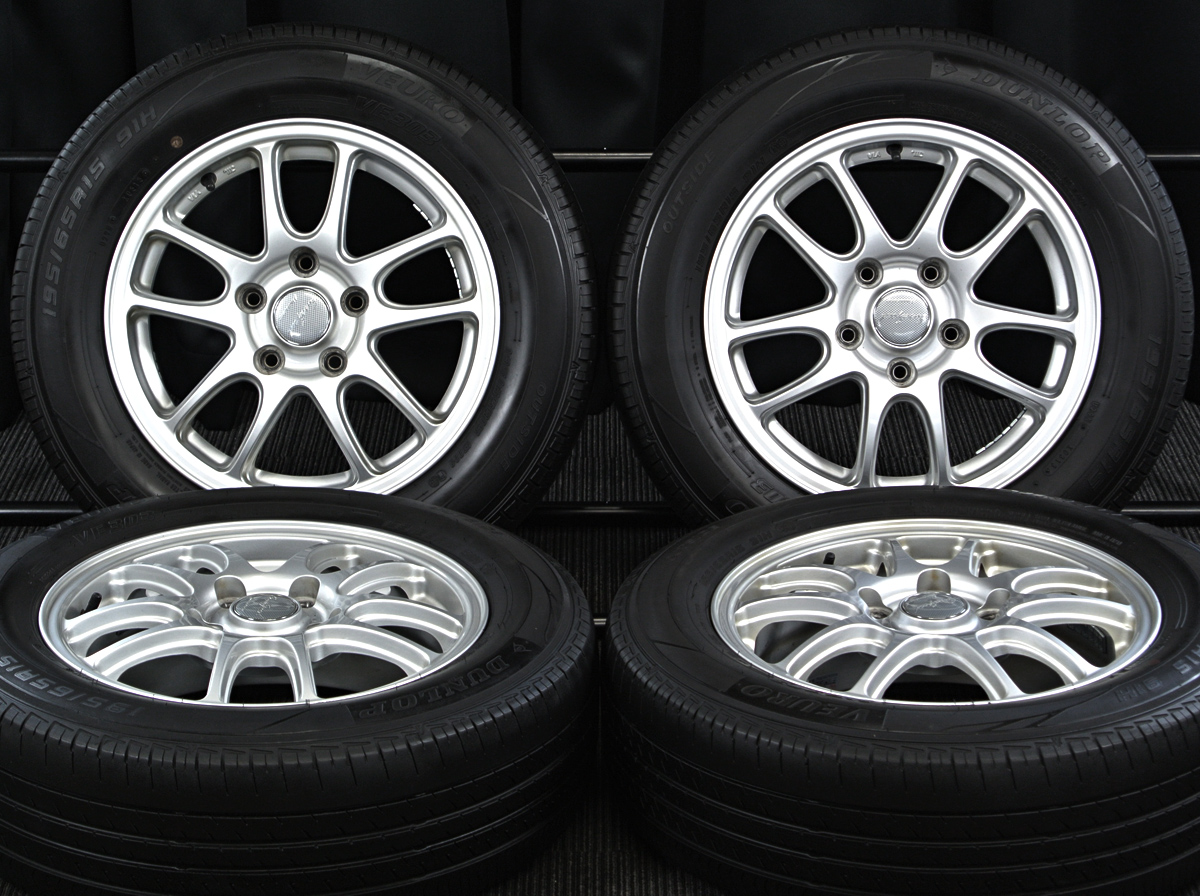 MANARAY SPORT Abachro GT シルバー DUNLOP VEURO VE303 195/65R15 4本SET