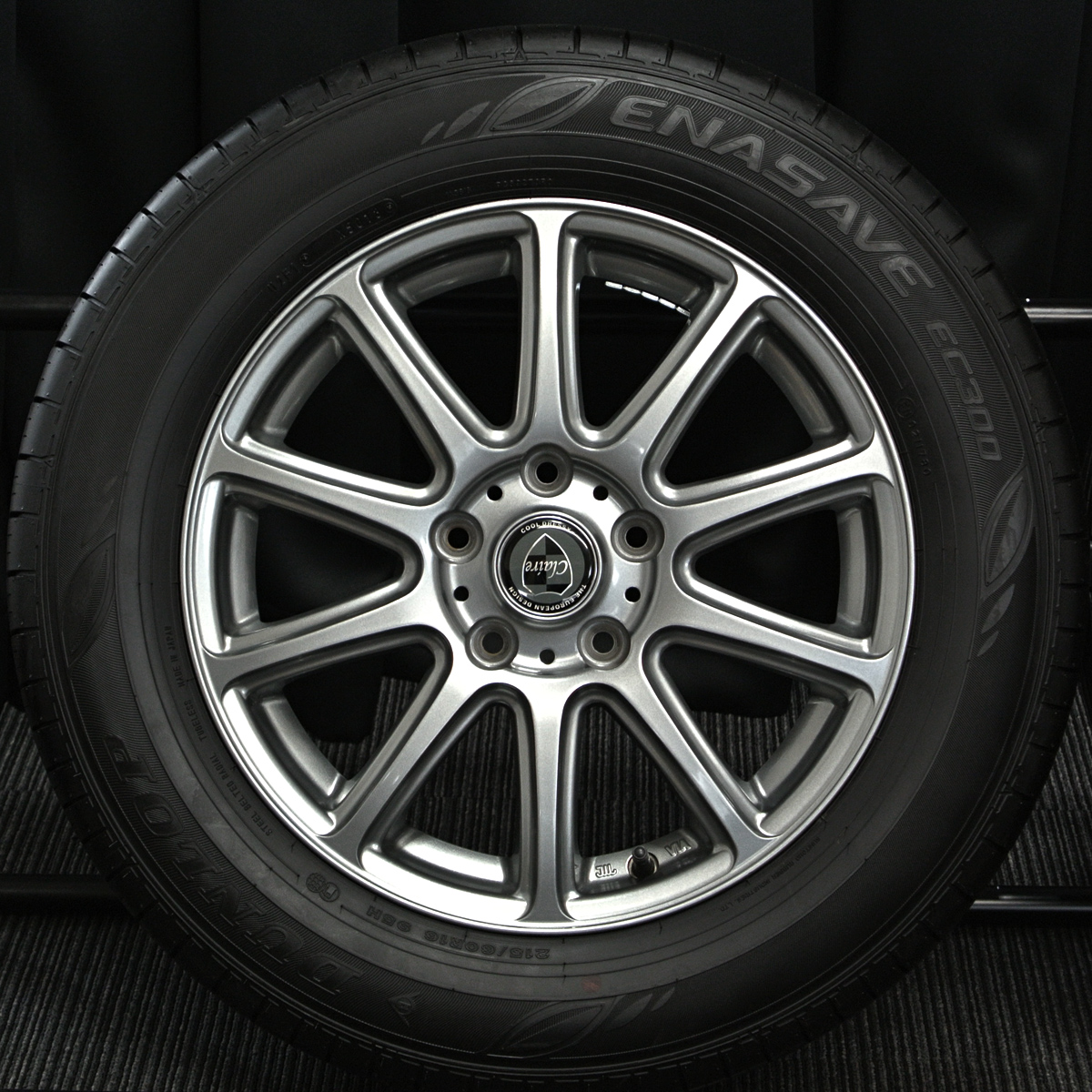 INTER MILANO CLAIRE GM10 ガンメタ DUNLOP ENASAVE EC300 215/60R16 4本SET