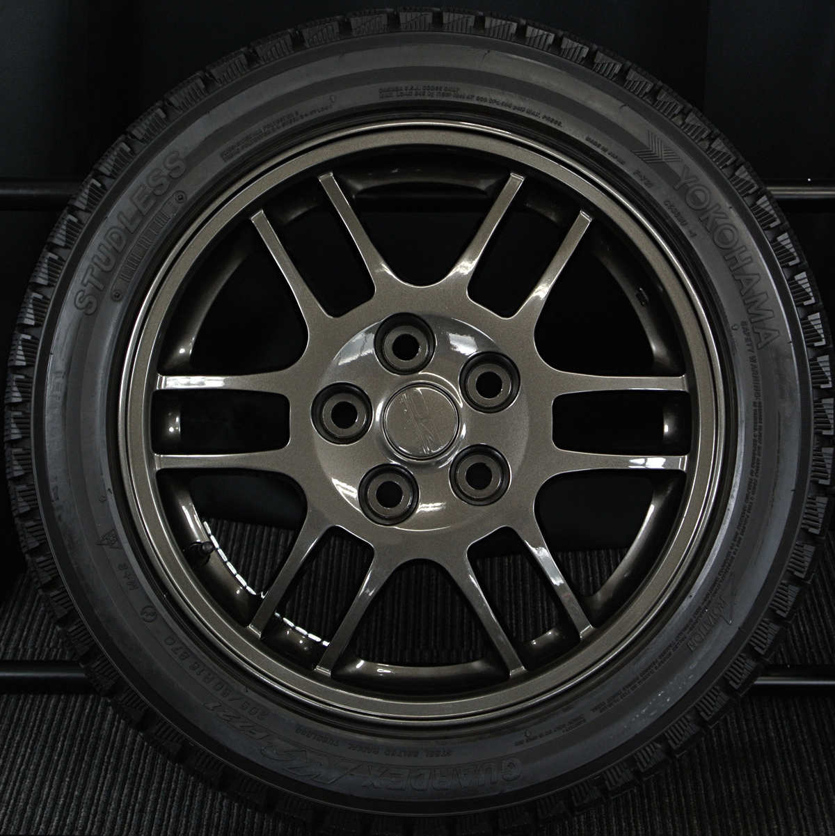 三菱 ランサーエボリューションIV 純正 OZ RACING F1 ガンメタ YOKOHAMA GUARDEX K2 F721 205/50R16 4本SET