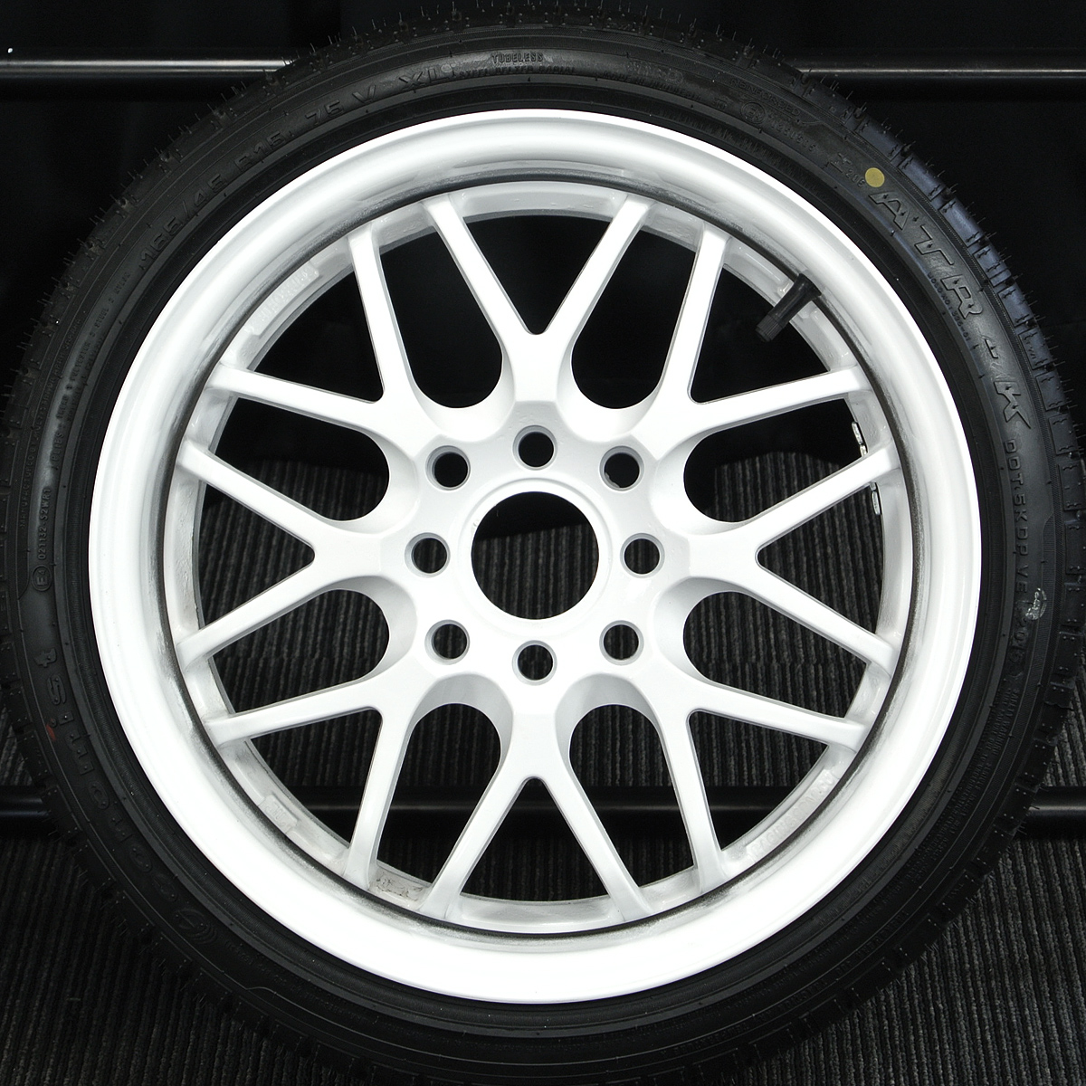 CRIMSON Racing SPARCO NS2 ホワイト ATR SPORT Economist ATR-K 165/45R15 4本SET