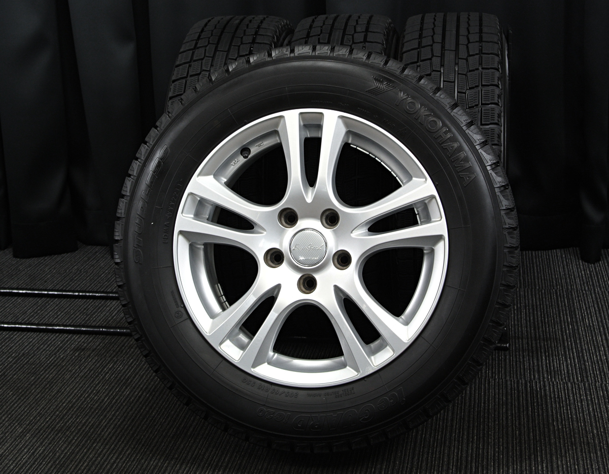 MANARAY SPORT EUROSPEED CX シルバー YOKOHAMA iceGUARD iG20 205/65R16 4本SET