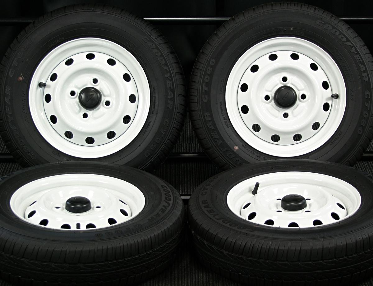 DAIHATSU エッセ 純正 ホワイト GOODYEAR GT080 145/80R12 4本SET