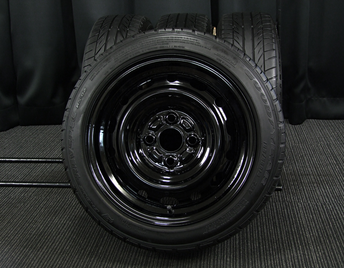 MAZDA デミオ 純正 ブラック GOODYEAR EAGLE REVSPEC RS-02 165/55R14 4本SET
