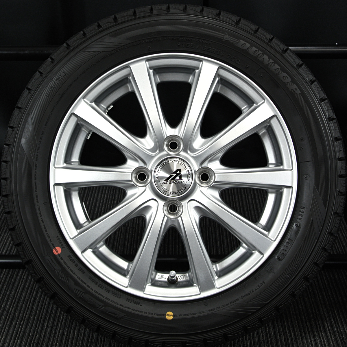 INTER MILANO AZ-SPORTS SY-10 シルバー DUNLOP DSX-2 155/65R14 4本SET