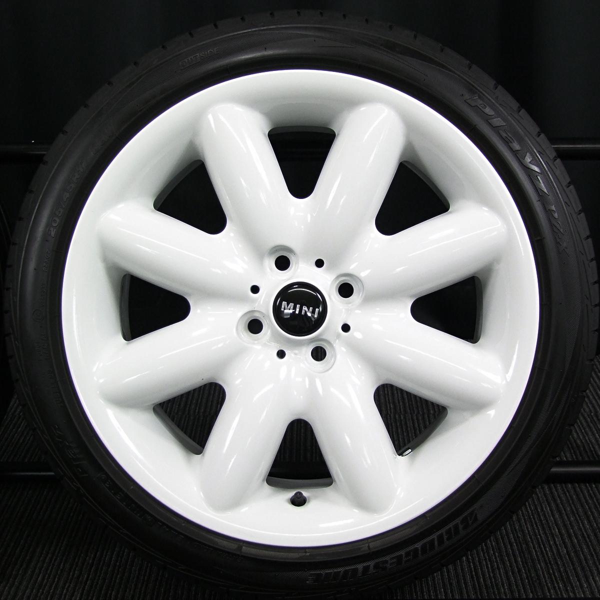 BMW MINI 純正 SスポークR85 ホワイト BRIDGESTONE Playz PZ-X 205/45R17 4本SET