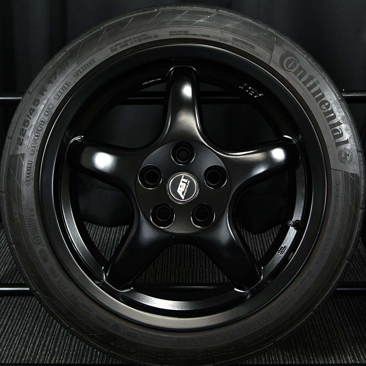 OZ Racing ABT SPORTLINE マットブラック CONTINENTAL ContiSportContact5 225/45R17 4本SET