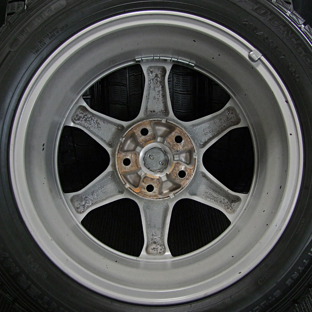 NISSAN 純正 シルバー DUNLOP WINTER MAXX WM01 215/60R17 4本SET