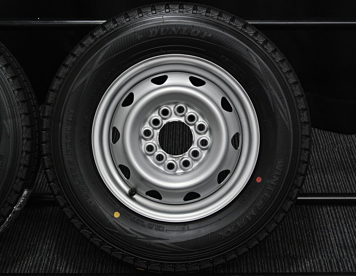 WEDS CARROWIN シルバー DUNLOP WINTER MAXX SV01 145R12LT 6PR 4本SET