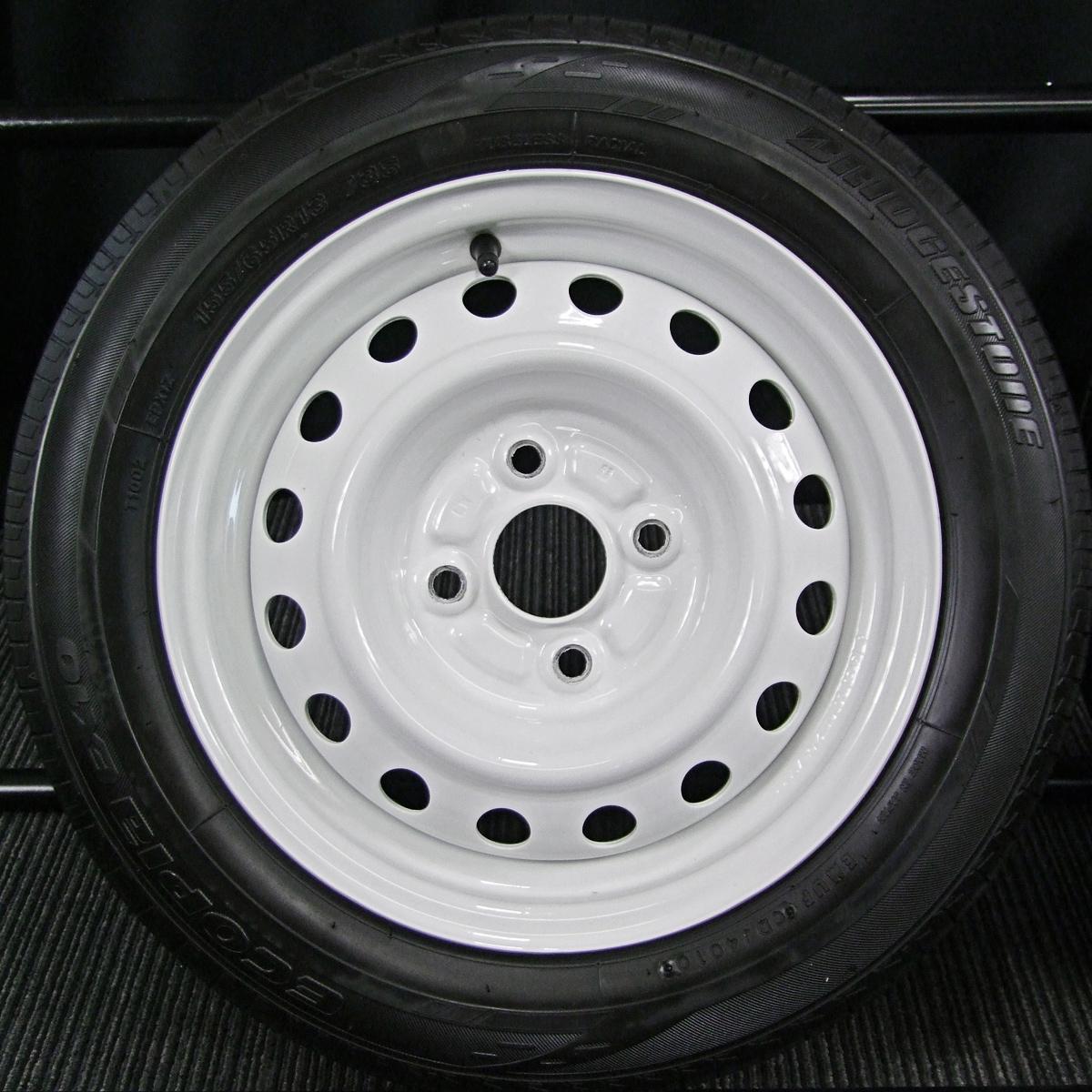 TOYOTA 純正 ホワイト BRIDGESTONE NEXTRY ECOPIA EX10 155/65R13 4本SET