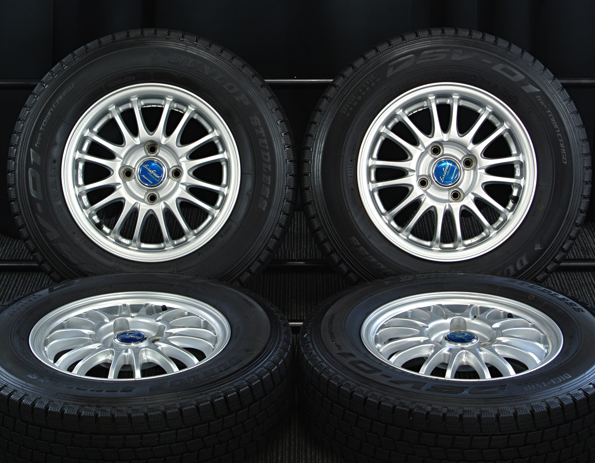 MANARAY SPORT EuroSpeed BC PREMIUM LIGHT シルバー DUNLOP DSV-01 165R13LT 8PR 4本SET