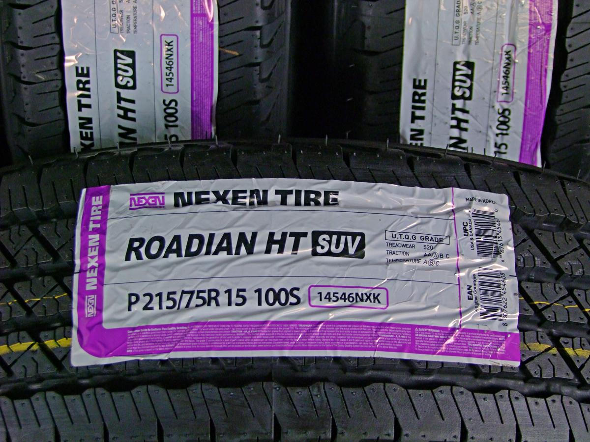 WEDS KEELER FIELD シルバー NEXEN ROADIAN HT 215/75R15 5本SET