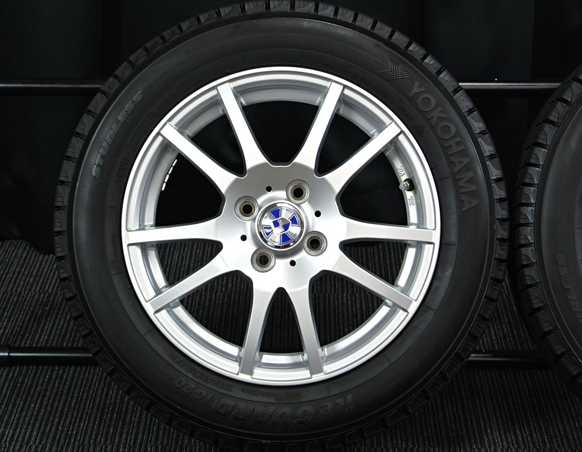 WEDS G-Mach シルバー YOKOHAMA iceGUARD iG20 175/65R15 4本SET