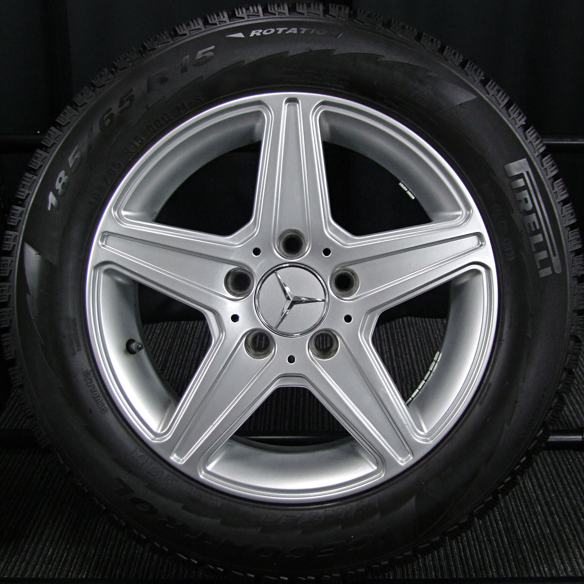 BRIDGESTONE TARGA AGA Burg シルバー PIRELLI WINTER ICECONTROL 185/65R15 4本SET