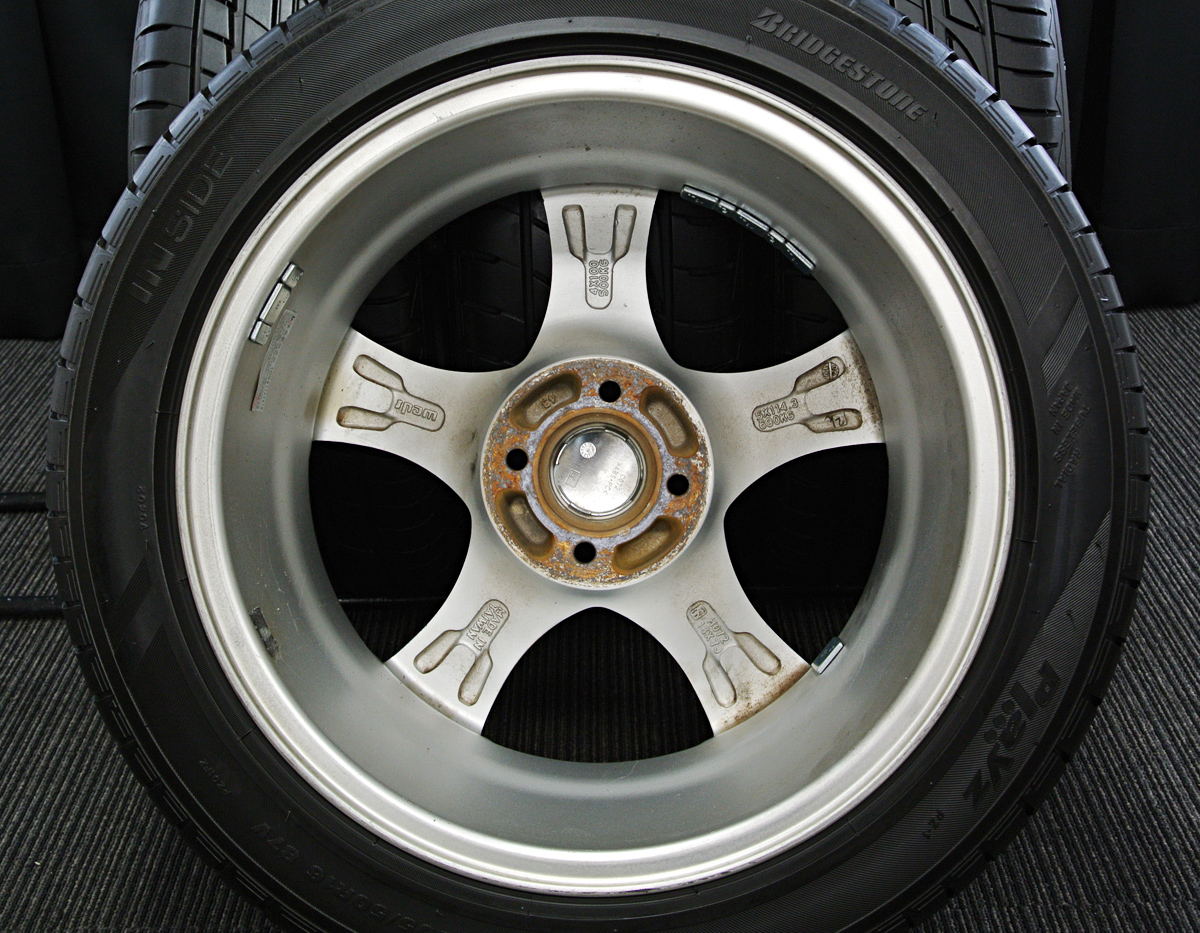 WEDS Leonis AS シルバー BRIDGESTONE Playz PZ-1 205/50R16 4本SET