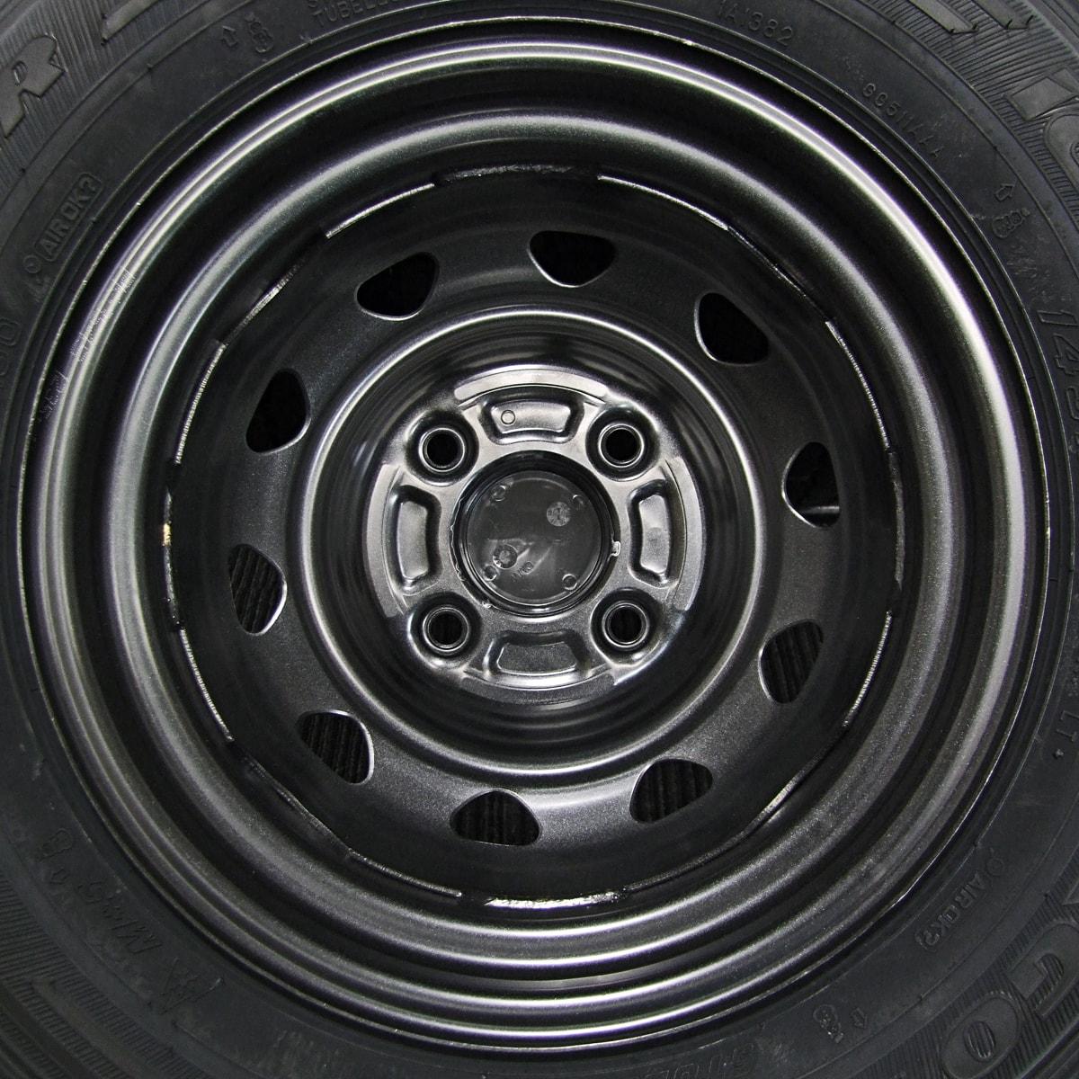 WEDS CARROWIN シルバースチール GOODYEAR ICE NAVI CARGO 145R12LT 6PR 4本SET