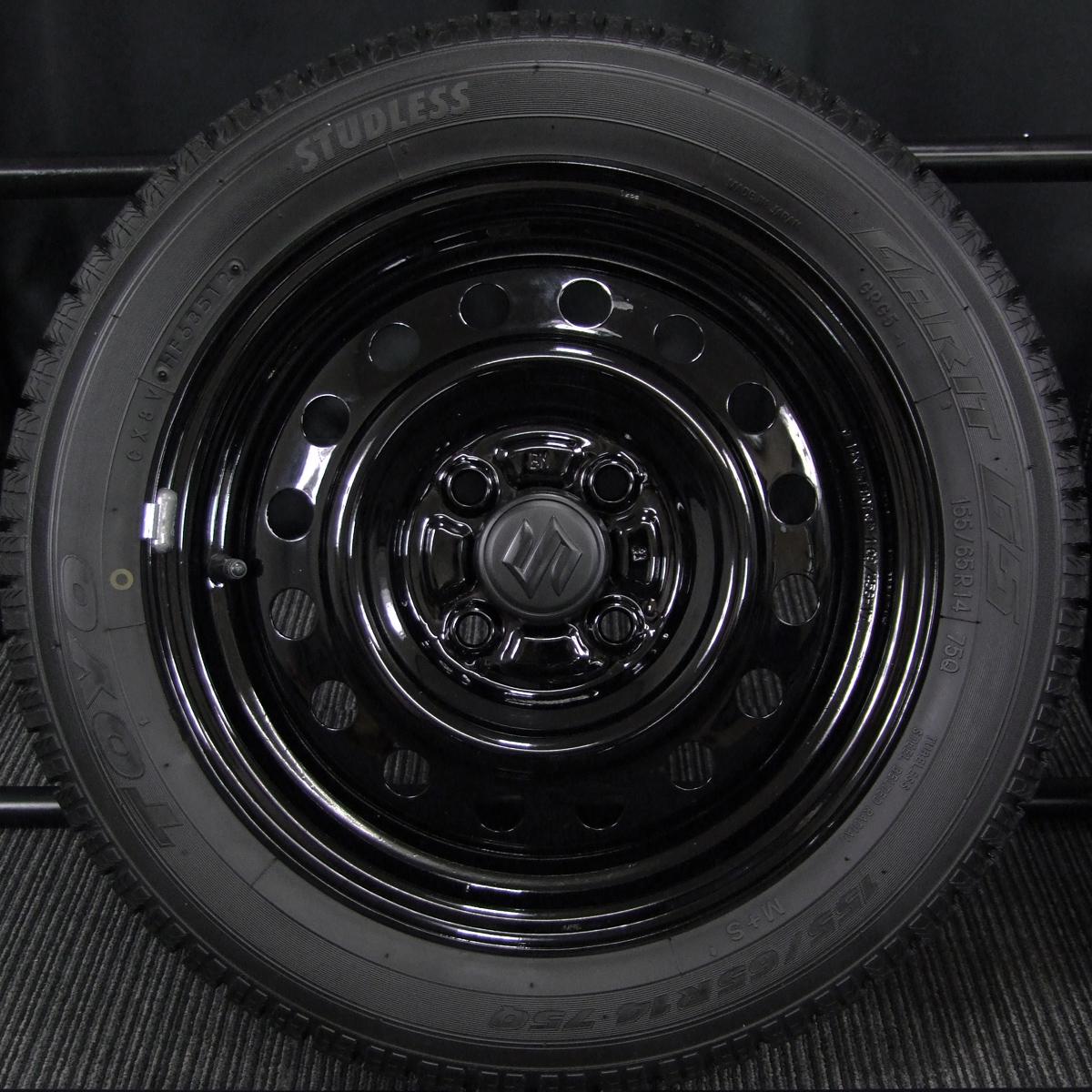 SUZUKI エブリィ 純正 ブラック TOYO GARIT G5 155/65R14 4本SET