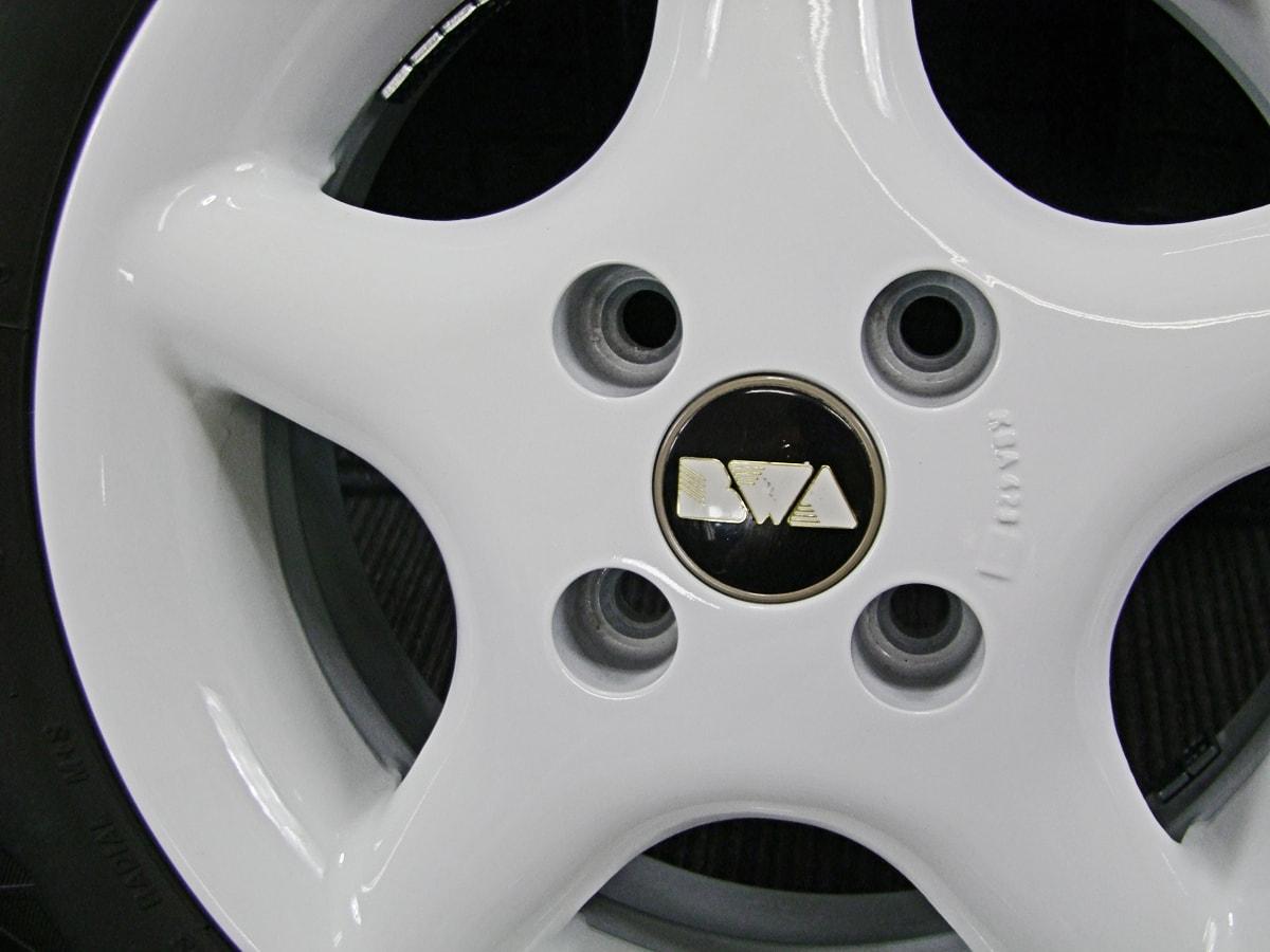 BWA ホワイト BRIDGESTONE BLIZZAK REVO2 155/65R13 4本SET