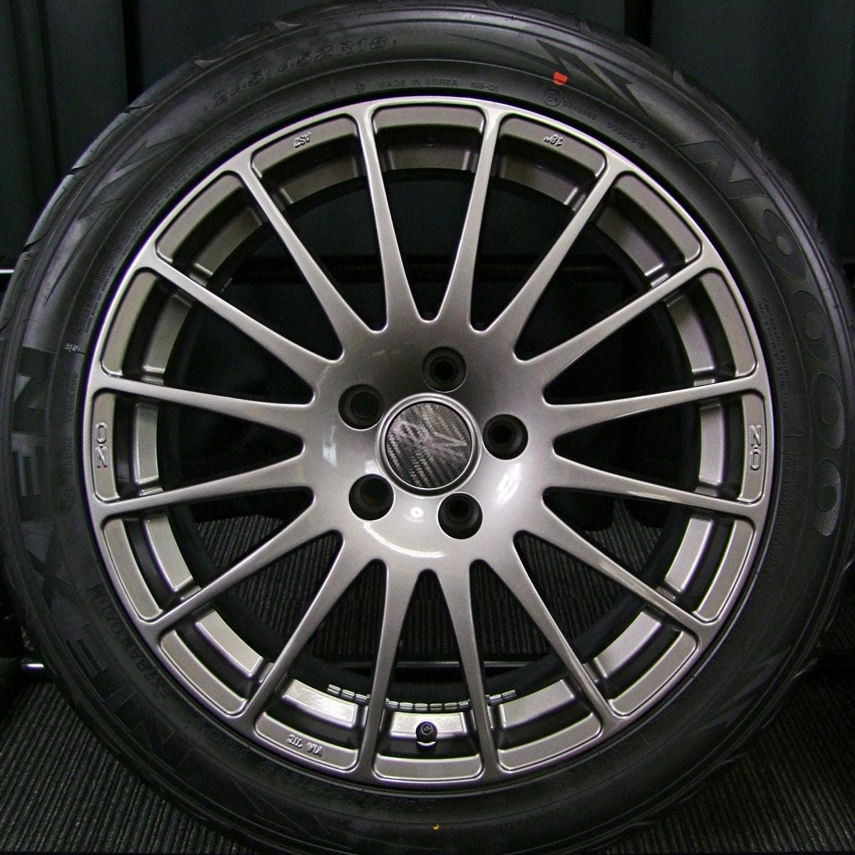 OZ SUPERTURISMO GT ガンメタ NEXEN N9000 245/45ZR18 4本SET