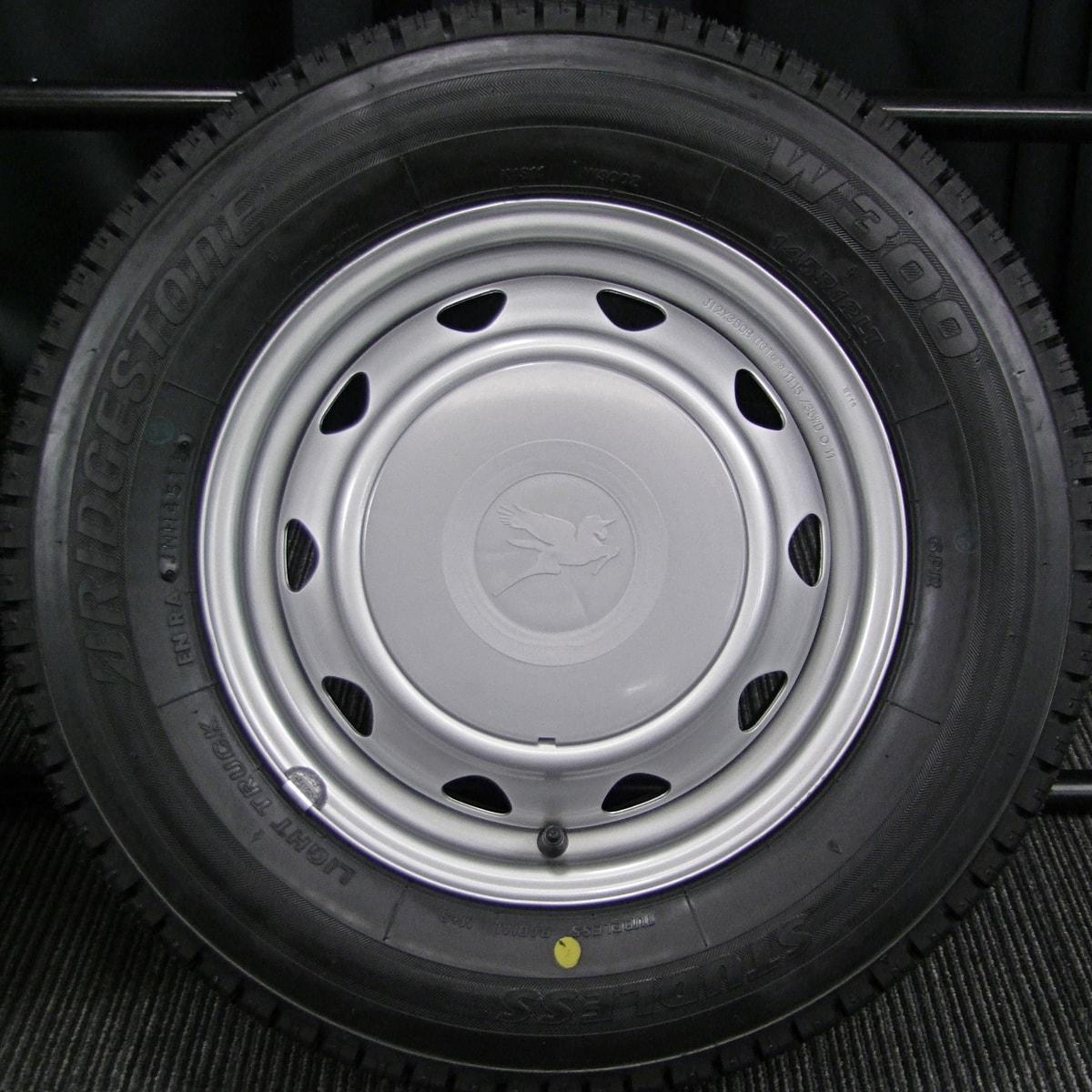WEDS CARROWIN シルバー BRIDGESTONE W300 145R12LT 6PR 4本SET