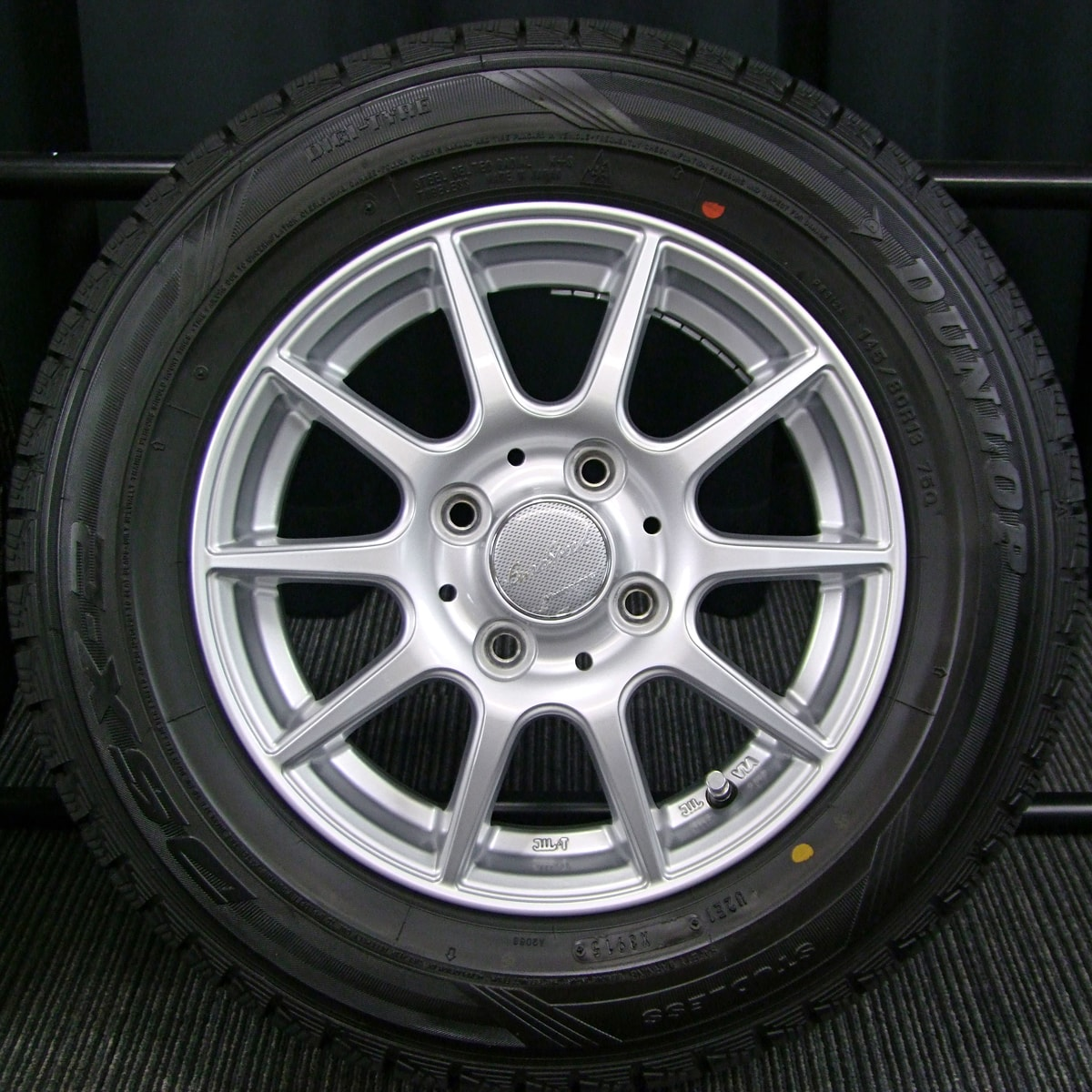 MANARAY SPORT EuroSpeed smart シルバー DUNLOP DSX-2 145/80R13 4本SET
