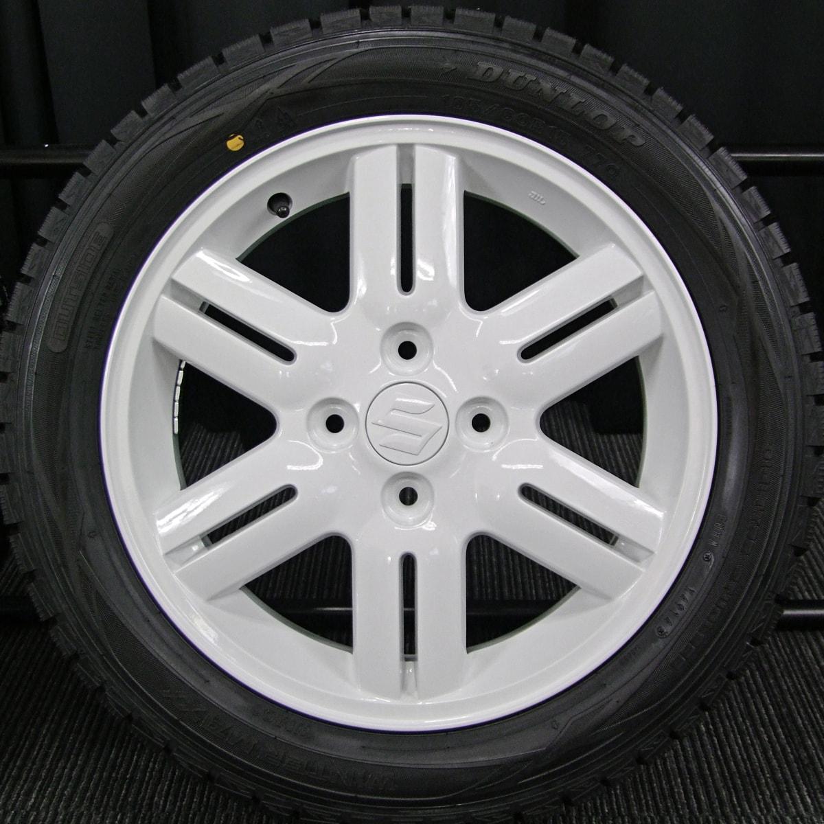 SUZUKI ワゴンRソリオ 純正 ホワイト DUNLOP WINTER MAXX WM01 165/60R15 4本SET