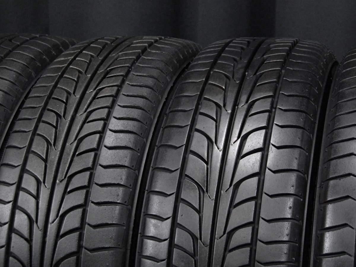 BADX LOXARNY EX BYRON STINGER ブラック&ポリッシュ FIRESTONE FIREHAWK WIDE OVAL 165/55R15 4本SET