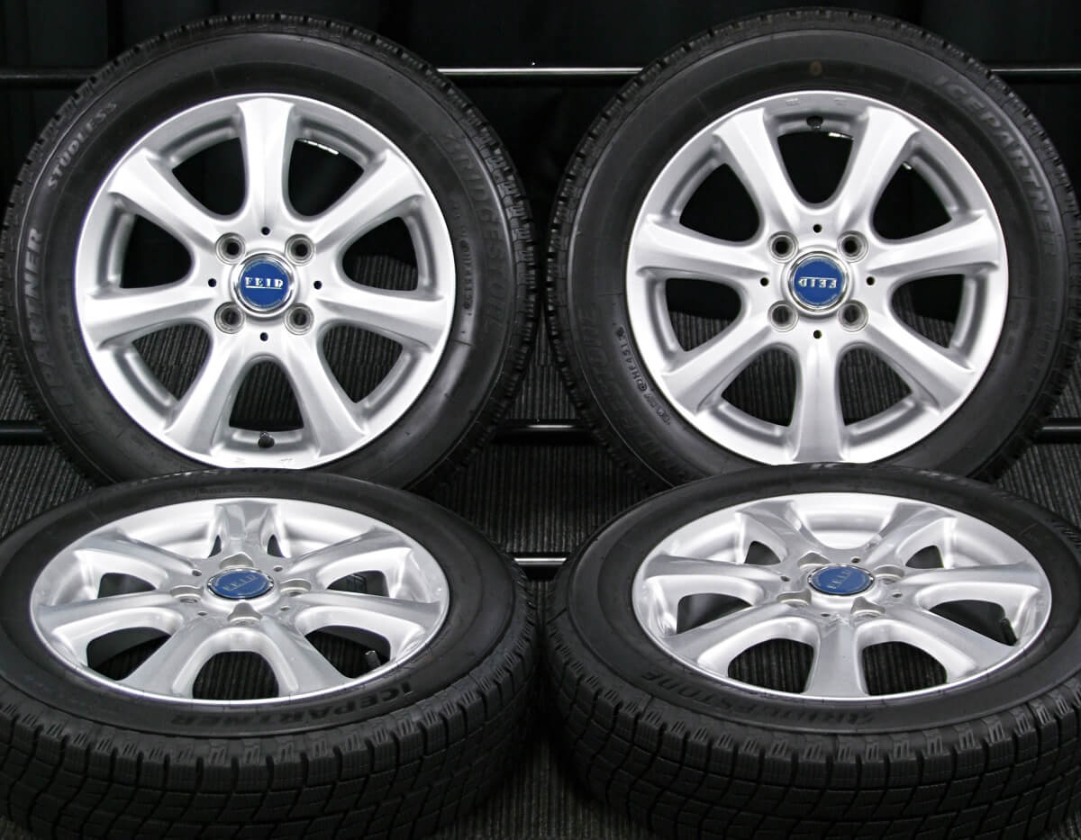 BRIDGESTONE FEID TM7 シルバー BRIDGESTONE ICE PARTNER 155/65R14 4本SET