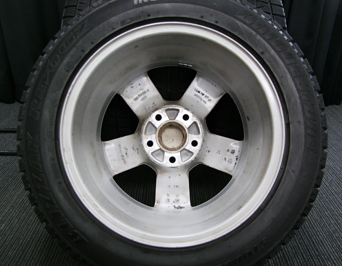 AUDI A4 純正 シルバー BRIDGESTONE BLIZZAK REVO-GZ 215/55R16 4本SET