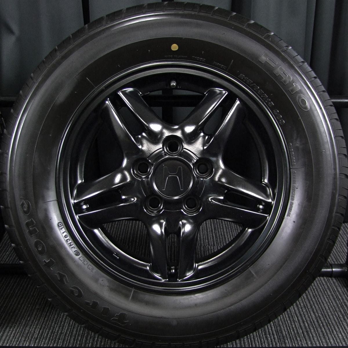 HONDA CR-V 純正 マットブラック FIRESTONE FR10 215/65R15 4本SET