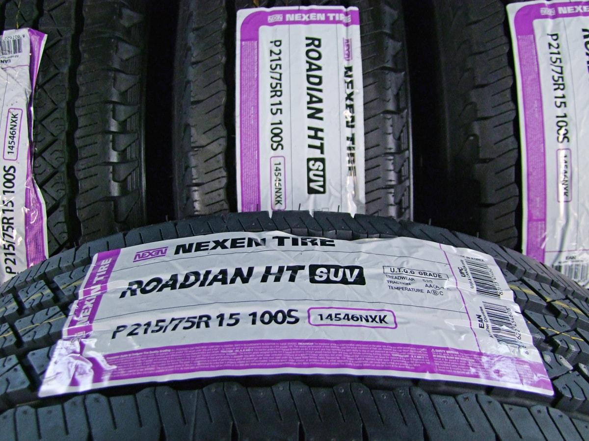 15×6J(-7)PCD139.7-5H マットブラック NEXEN ROADIAN H/T SUV 215/75R15 4本SET