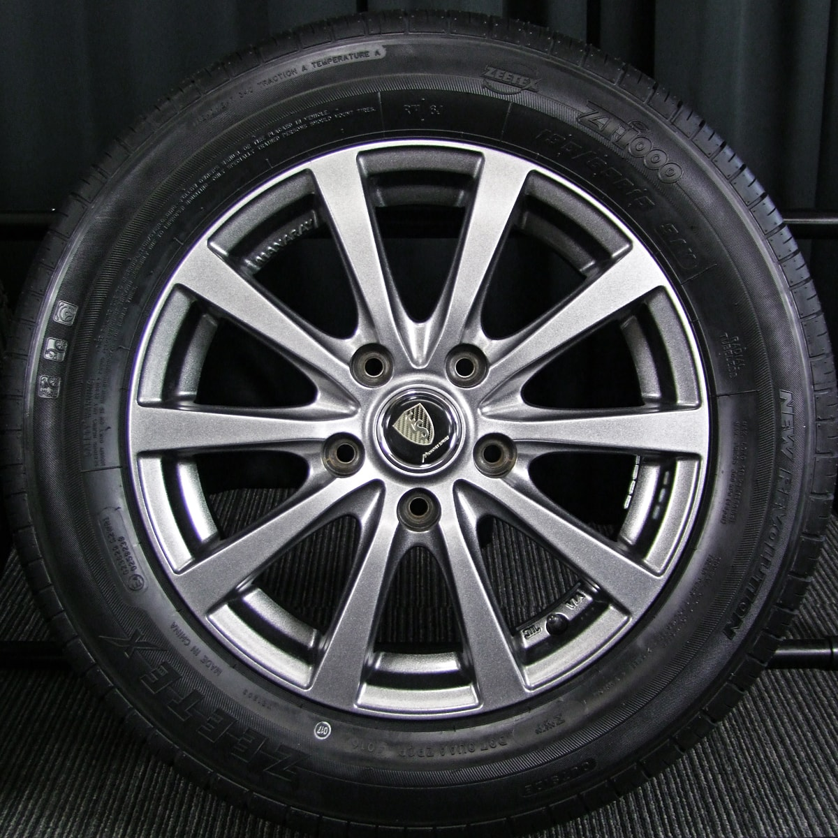 MANARAY SPORT EUROSPEED G-10 ダークシルバー ZEETEX ZT1000 195/65R15 4本SET
