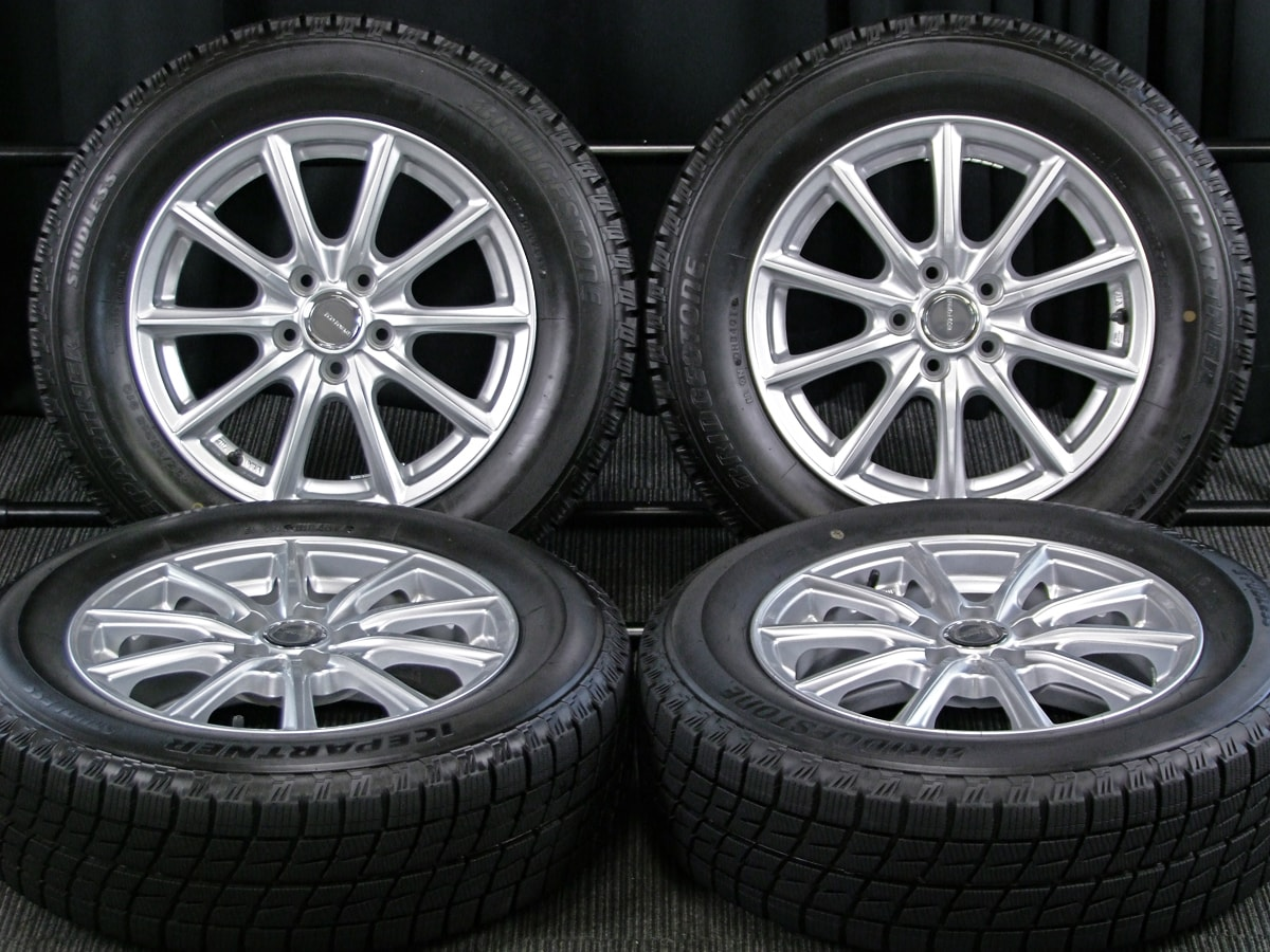 BRIDGESTONE ECO FORME SE-15 シルバー BRIDGESTONE ICE PARTNER 195/65R15 4本SET