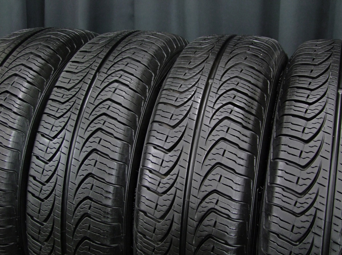 WEDS NIRVANA ダークシルバー PIRELLI P4 FOUR SEASONS 175/65R14 4本SET