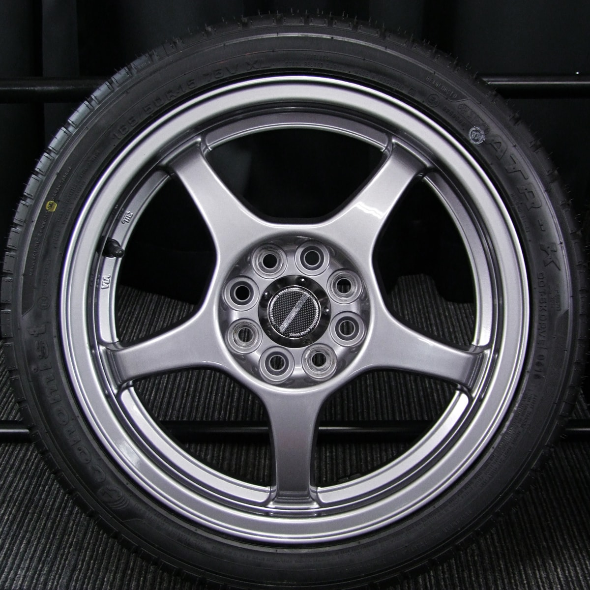 A-TECH SCHNEIDER AS-05 ガンメタ ATR SPORT Economist ATR-K 165/50R15 4本SET