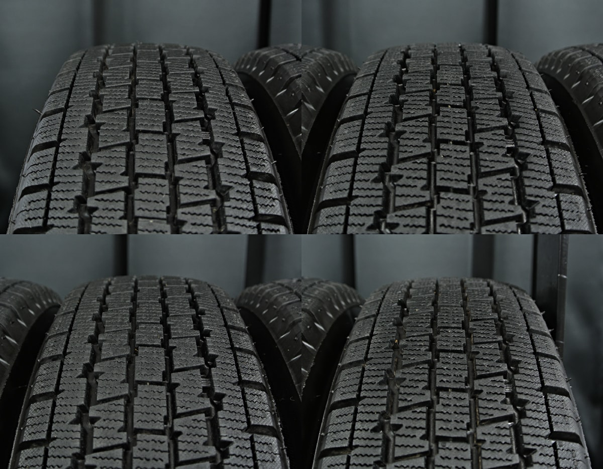 HOT STUFF Exceeder EX10 ダークシルバー BRIDGESTONE W300 145R12LT 6PR 4本SET