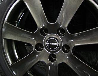 BMW専用M14ボルト対応BORBETガンメタ7J+40深溝215/45R17美品1シリーズE87 3シリーズE90/E46/E36 現行ミニMINI 塗装面アップ写真