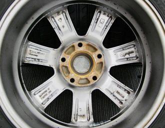 BMW専用M14ボルト対応BORBETガンメタ7J+40深溝215/45R17美品1シリーズE87 3シリーズE90/E46/E36 現行ミニMINI 裏面アップ写真