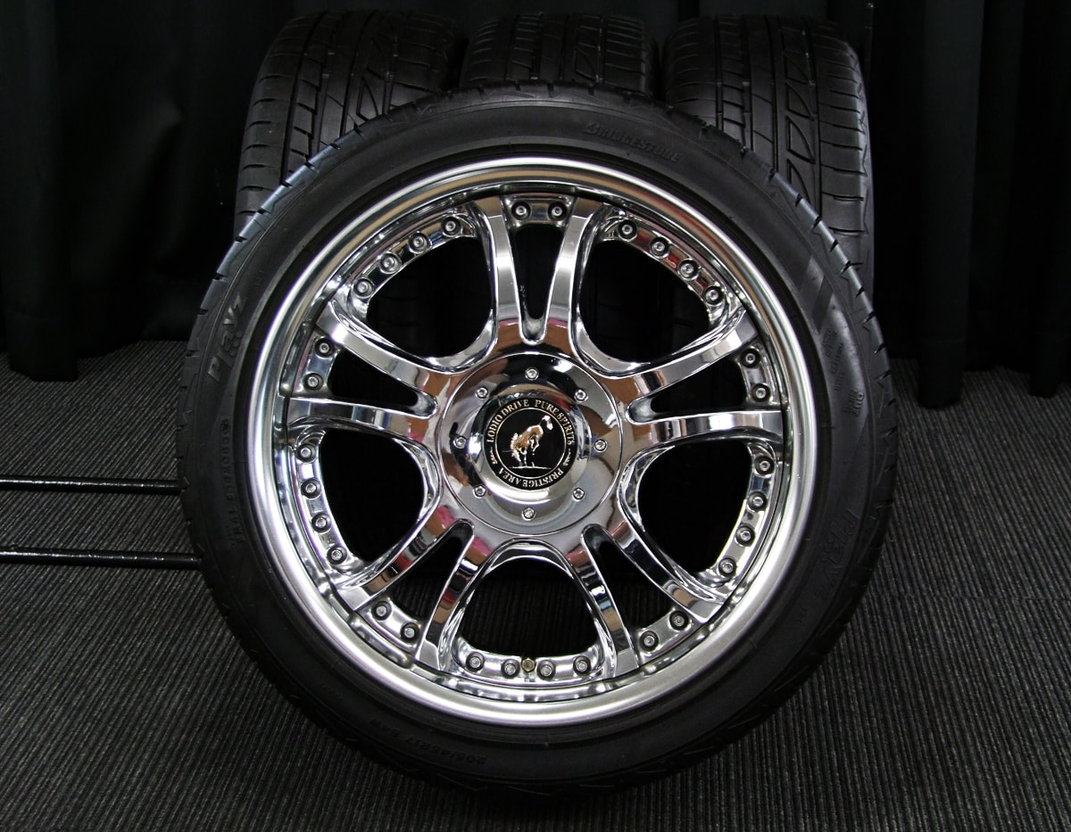 SUPERSTAR LODIO DRIVE クロム BRIDGESTONE Playz PZ-1 205/45R17 4本SET