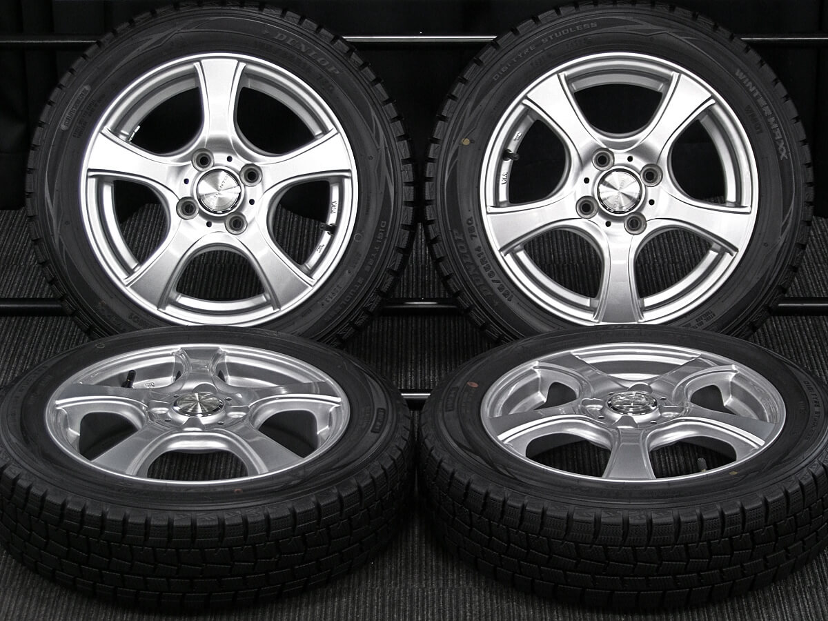 DUNLOP VIOLENTO IS シルバー DUNLOP WINTER MAXX WM01 155/65R14 4本SET