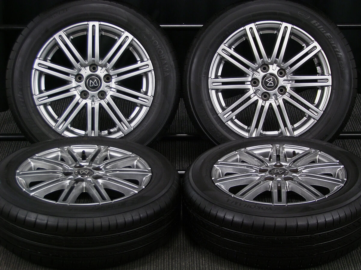 MANARAY SPORT EuroSpeed MC-02 ダークシルバー YOKOHAMA BluEarth E50 185/60R15 4本SET