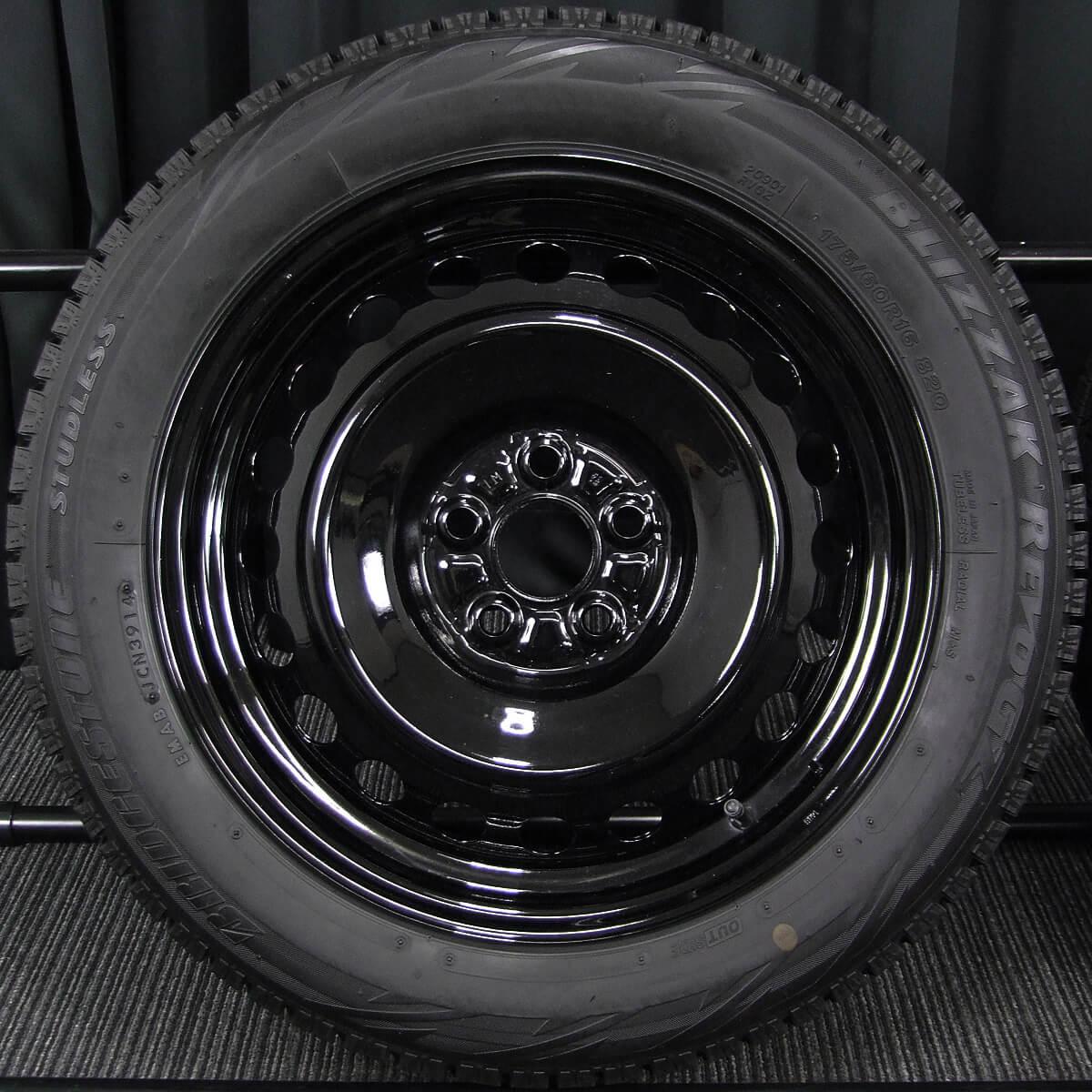 TOYOTA ラクティス / SUBARU トレジア 純正 ブラック BRIDGESTONE BLIZZAK REVO-GZ 175/60R16 4本SET