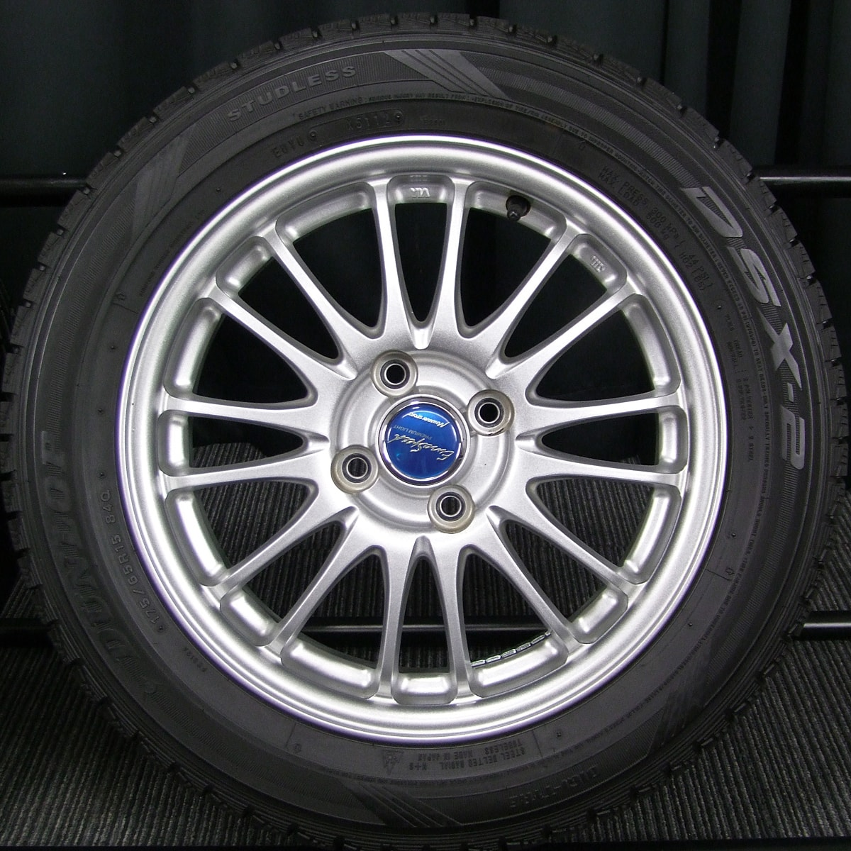 MANARAY SPORT EuroSpeed BC PREMIUM LIGHT シルバー DUNLOP DSX-2 175/65R15 4本SET