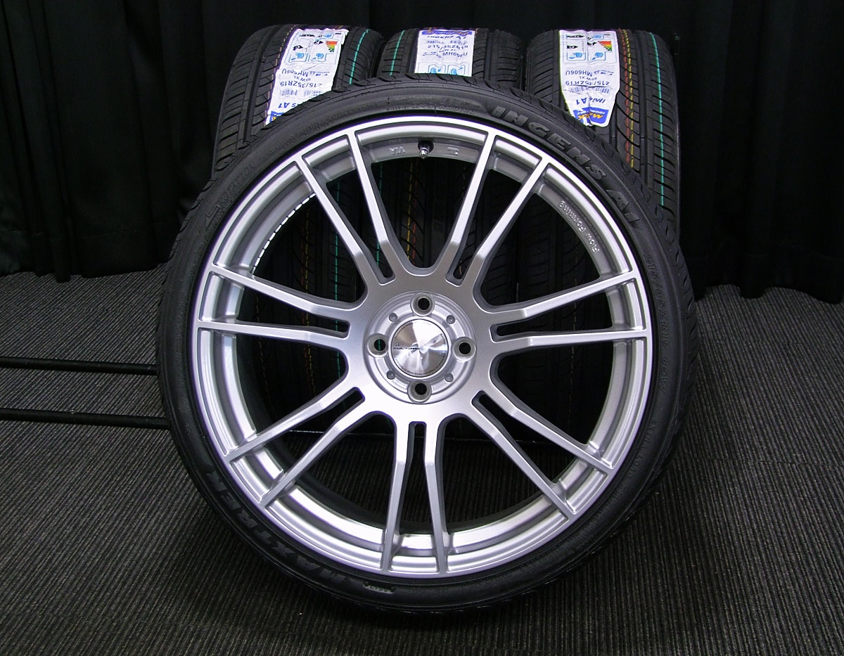 AW ROYAL FORGED B97 シルバー MAXTREK INGENS A1 215/35ZR19 4本SET
