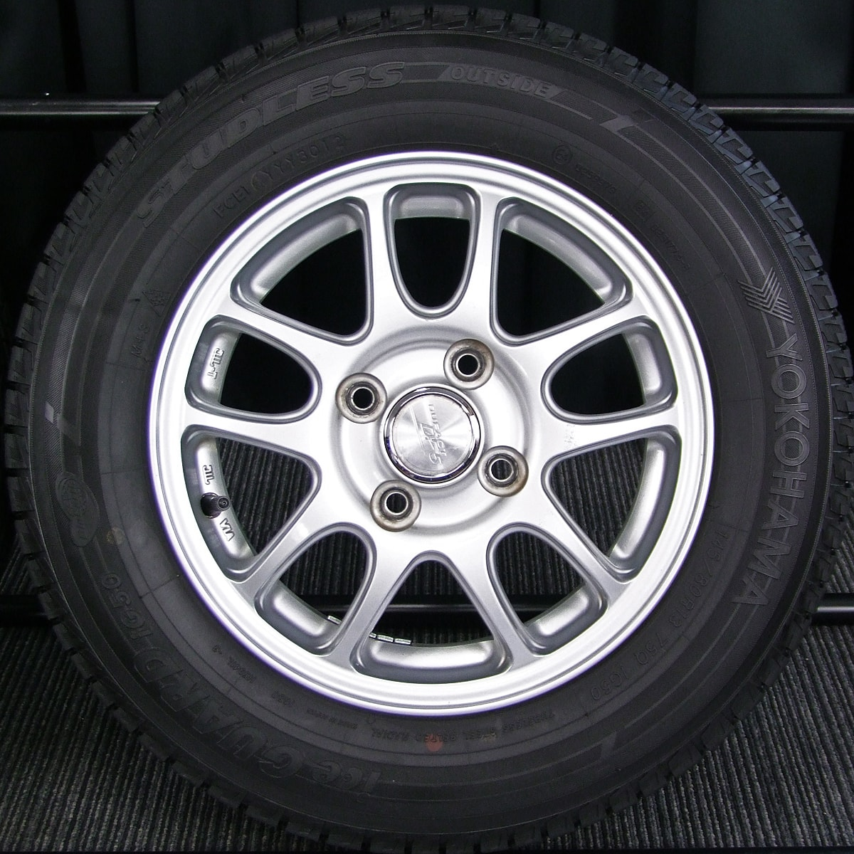 MANARAYSPORT ROADLINE FX シルバー YOKOHAMA iceGUARD iG50 145/80R13 4本SET