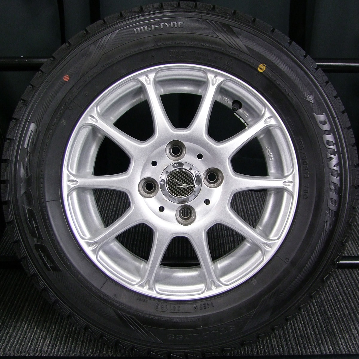 A-TECH SCHNEIDER BREAST シルバー DUNLOP DSX-2 155/80R13 4本SET