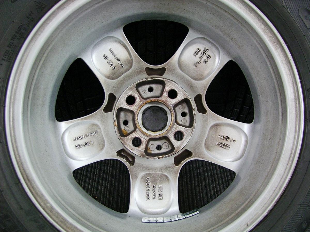 BMW MINI 純正 シルバー GOODYEAR ICENAVI6 175/65R15 4本SET