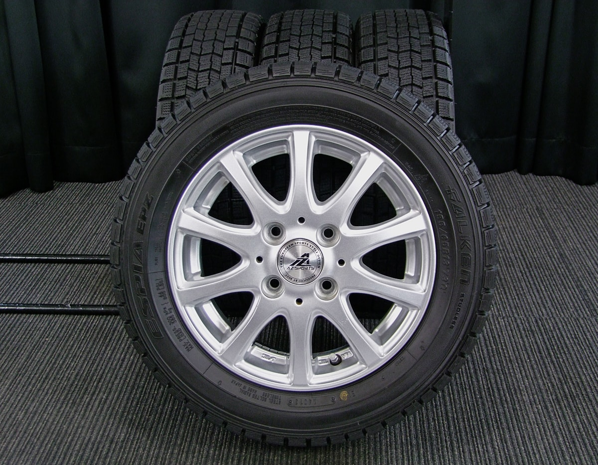 INTER MILANO AZ-SPORTS SY-10 シルバー FALKEN ESPIA EPZ 155/65R13 4本SET